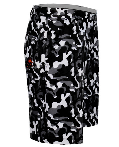 Camo print golf shorts with Pro Cool Technology for a super-cool and comfortable fit & feel.   Our Golf shorts are also available in black, grey, electric blue, multi-color, plaid, horizontal stripes, and charcoal skulls.
