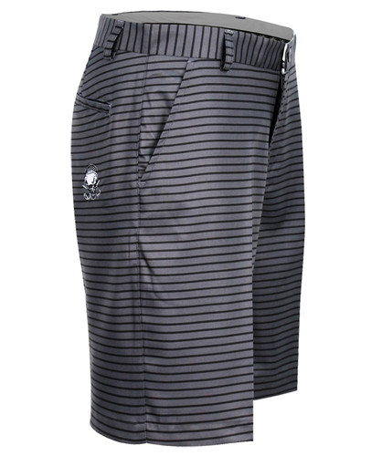 Striped ProCool Golf Shorts (Charcoal/Black)