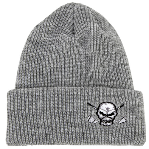Cuffed Loose Knit Beanie (Heather Grey)