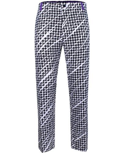 Houndstooth ProCool Golf Pants (Black/White/Purple)