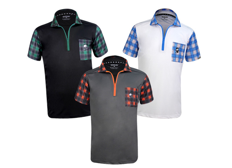 Men's Performance Zippered Golf Shirt - GT Hazard