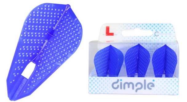 """L-Style """"Flight Z"""" Dimpled Champagne Flight in Blue"""