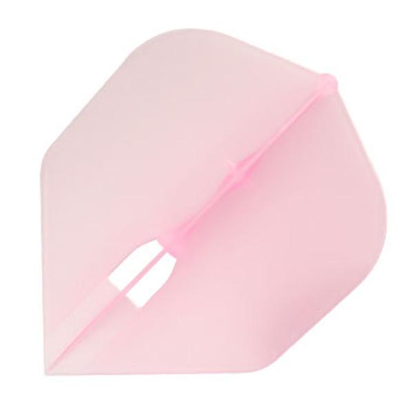 Clear pink small standard L-Style Champagne dart flight