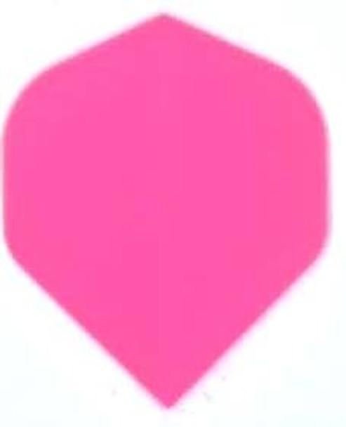 Solid pink standard poly dart flight