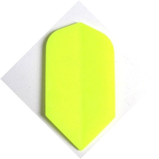 Solid yellow slim dart flight made by Supermetronic