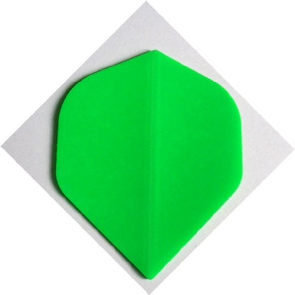 "Standard Poly ""FLURO GREEN"" Dart Flights PRN4"