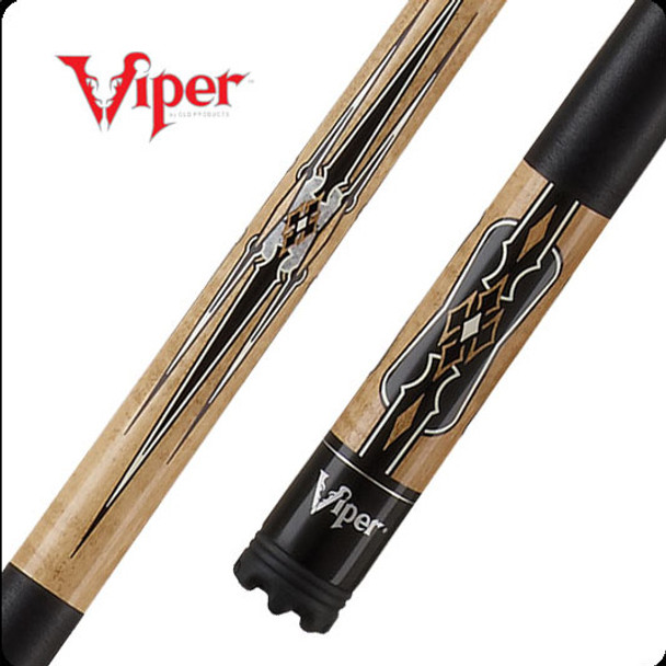 Viper Sinister pool cue with dark maple tone maple butt