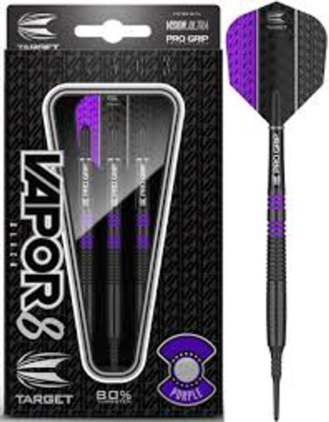 Vapor8 black purple 18gram soft tip dart