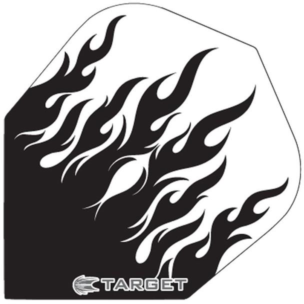 Target Pro 100 No 6 Shape Flights - Black/Clear