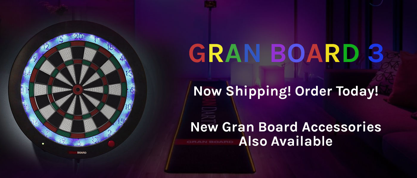 Gran Board 3 electronic dartboard and Gran Mat LED