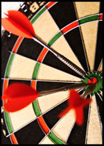 Three darts all in the double bull