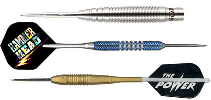 Steel tip darts from Unicorn, Monster and Bottelsen