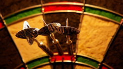 Three in a bed: three darts in the same number/segmented area