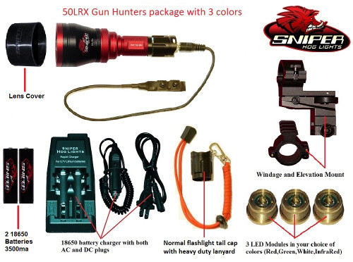 50LRX Gun hunters package with 3 colors