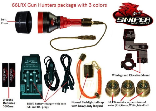 66LRX Gun Hunters Package with 3 colors