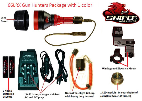 66LRX Gun Hunters Package with 1 color