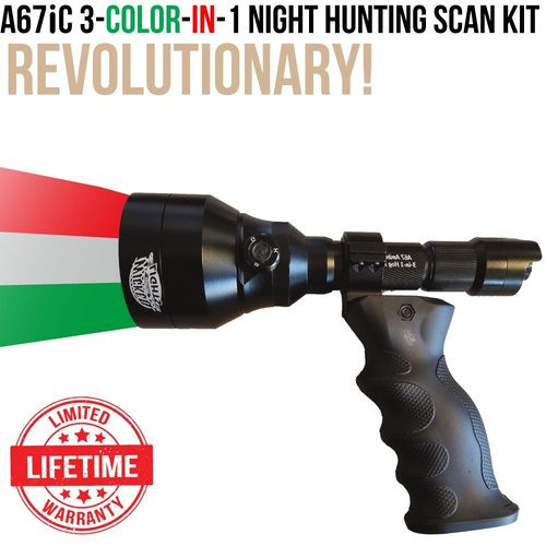 WICKED LIGHTS A67IC 3-COLOR-IN-1 NIGHT HUNTING SCAN LIGHT KIT FOR FOXES, COYOTES, HOGS