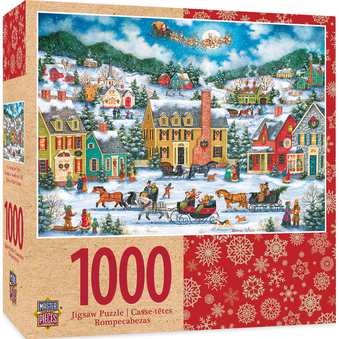 Holiday Christmas Eve Fly By 1000 Piece Jigsaw Puzzle
