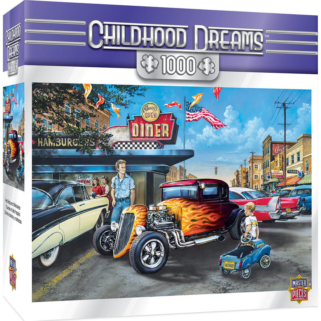 Childhood Dreams Hot Rods And Milkshakes 1000 Piece Jigsaw