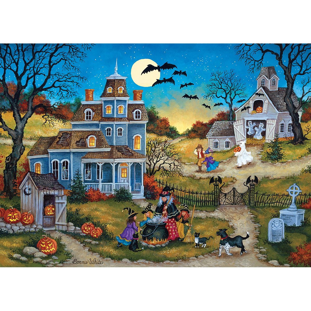 Holloween Three Little Witches 1000 Piece Jigsaw Puzzle