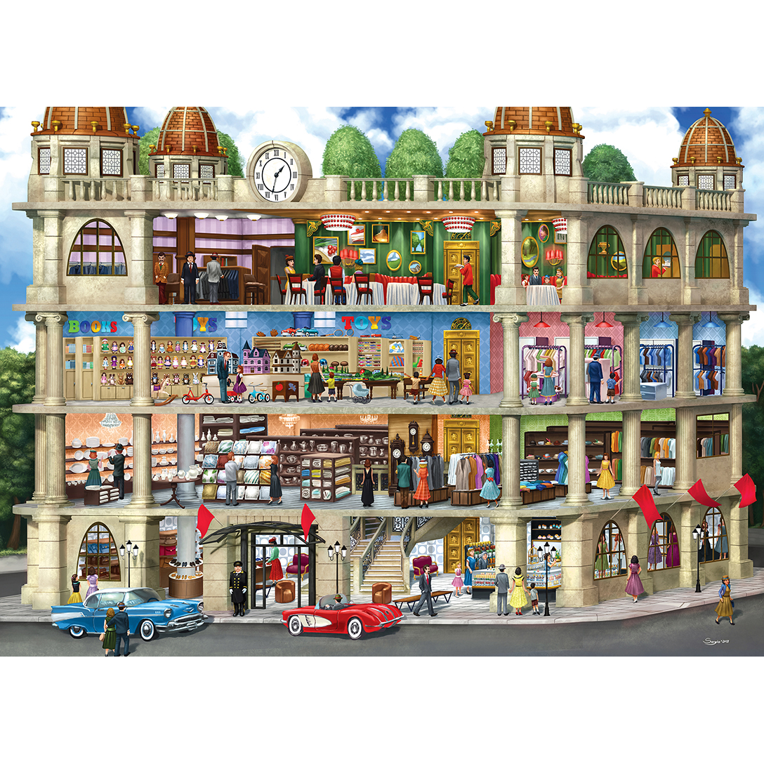 Inside Out Fields Department Store 1000 Piece Jigsaw Puzzle