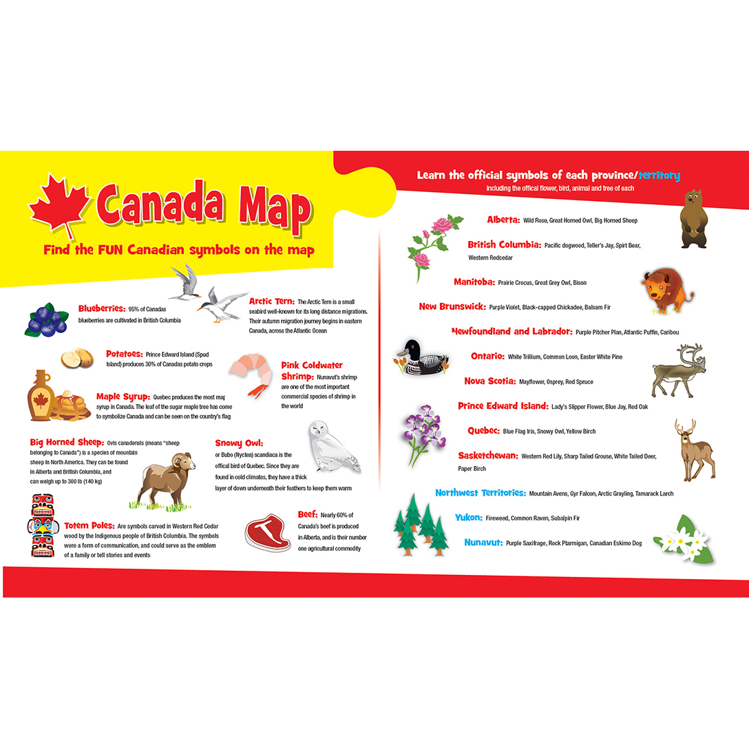 Explorer Kids - Canadian Map - 60 Piece Kids Puzzle on map quizes, map with details, map rules, map norms, map answers, map tricks, map language, map features, map processes, map tales,