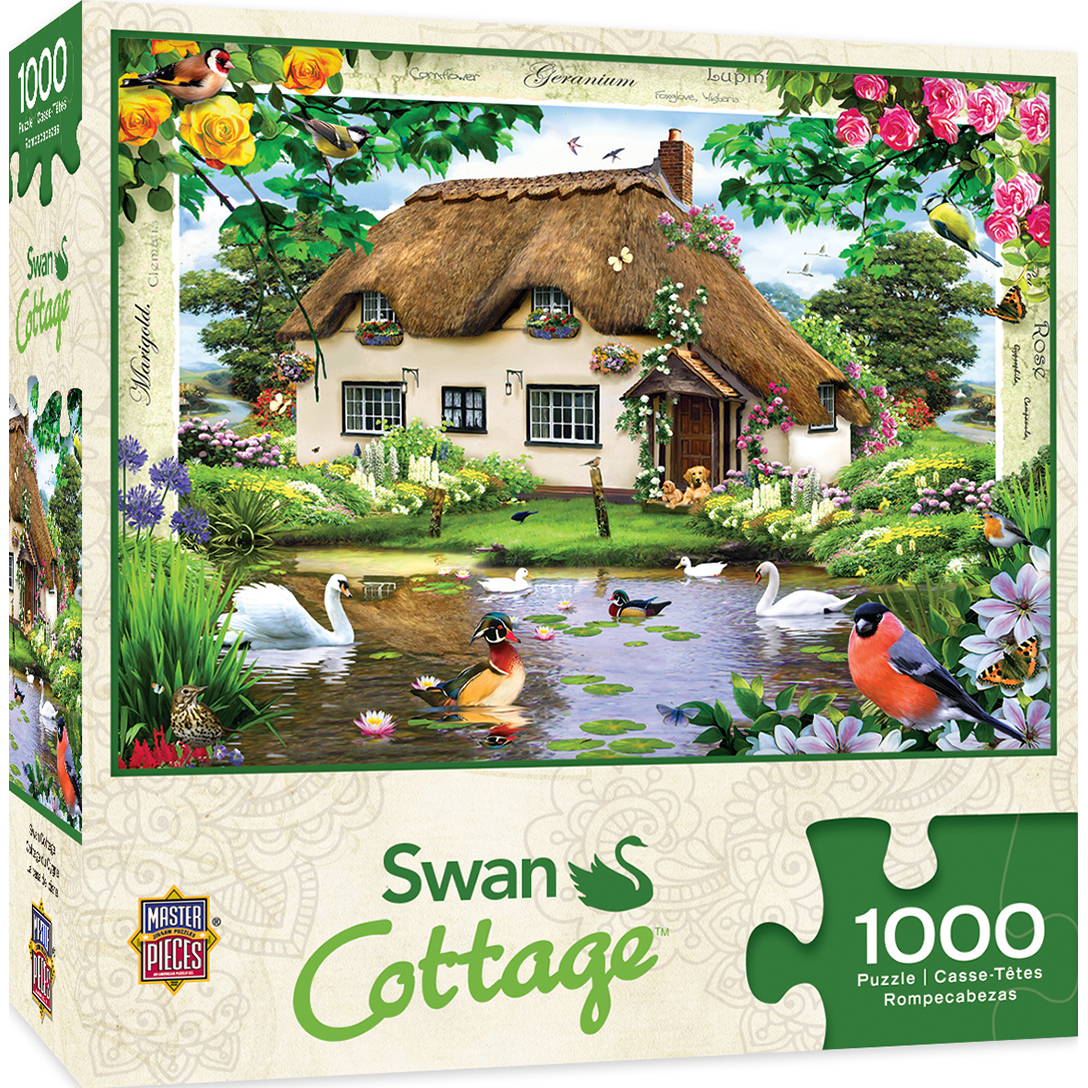 Flower Cottages Swan Cottage 1000 Piece Jigsaw Puzzle