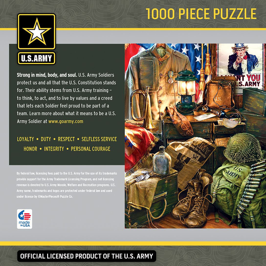 U S Army Men Of Honor 1000 Piece Jigsaw Puzzle