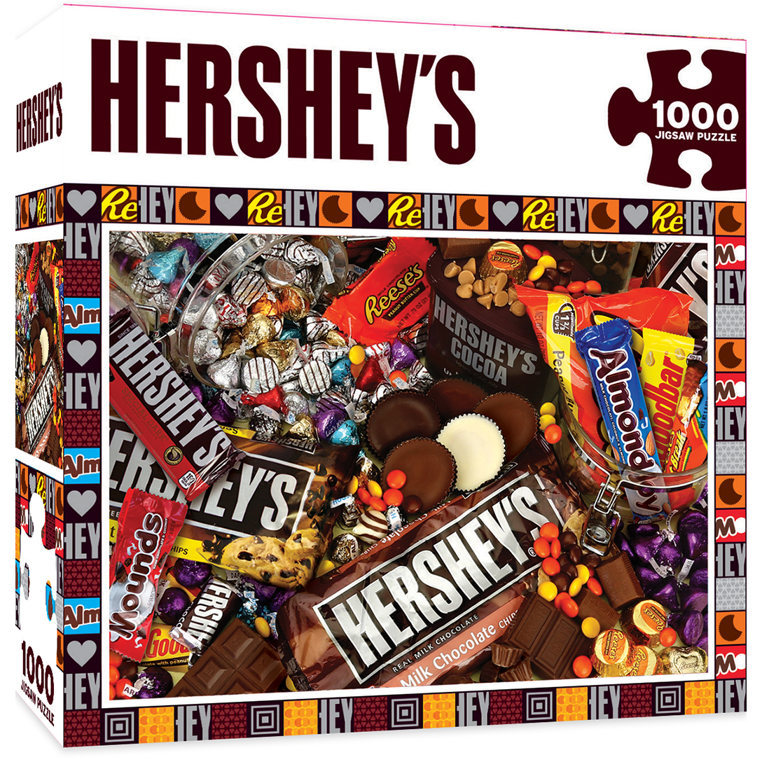 Hershey S Mayhem Chocolate Collage 1000 Piece Jigsaw Puzzle
