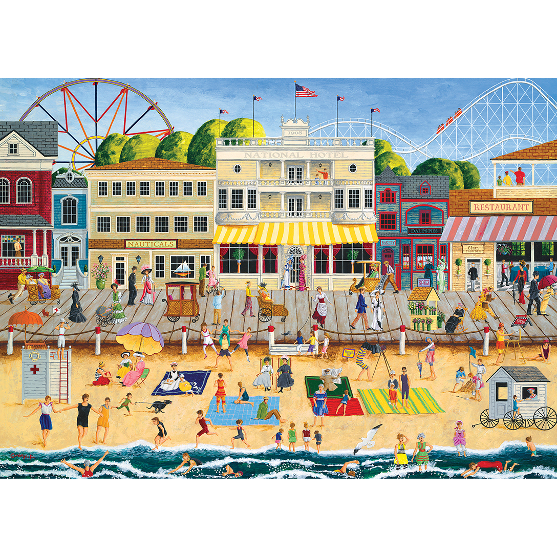 Hometown Gallery On The Boardwalk Beach 1000 Piece
