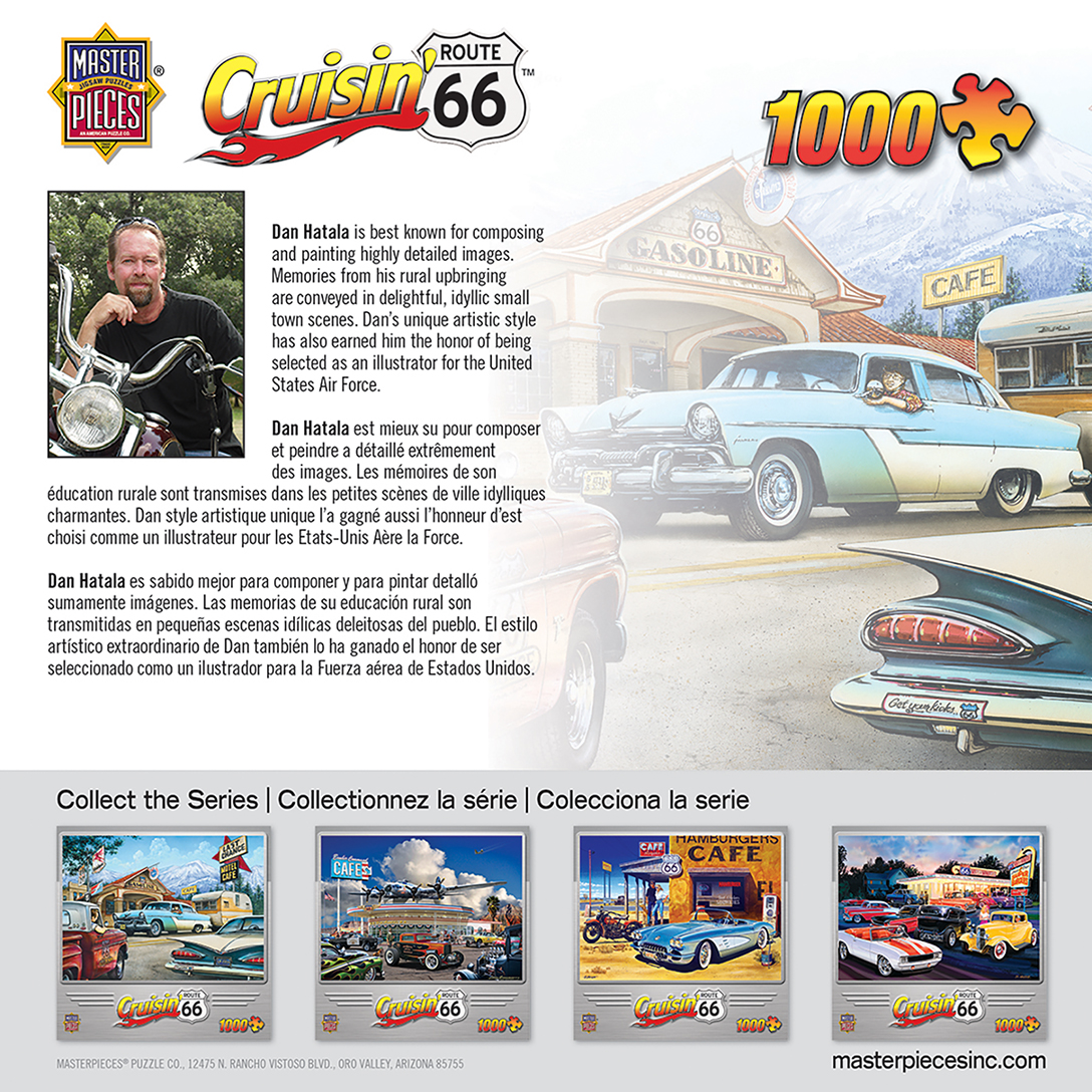 Cruisin Route 66 On The Road Again 1000 Piece Jigsaw Puzzle