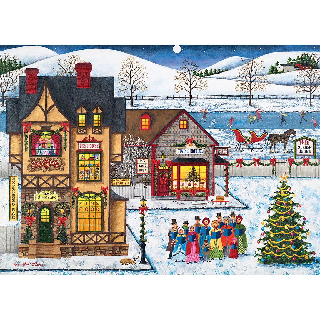 Holiday Main Street Carolers Carolers Singing 1000 Piece