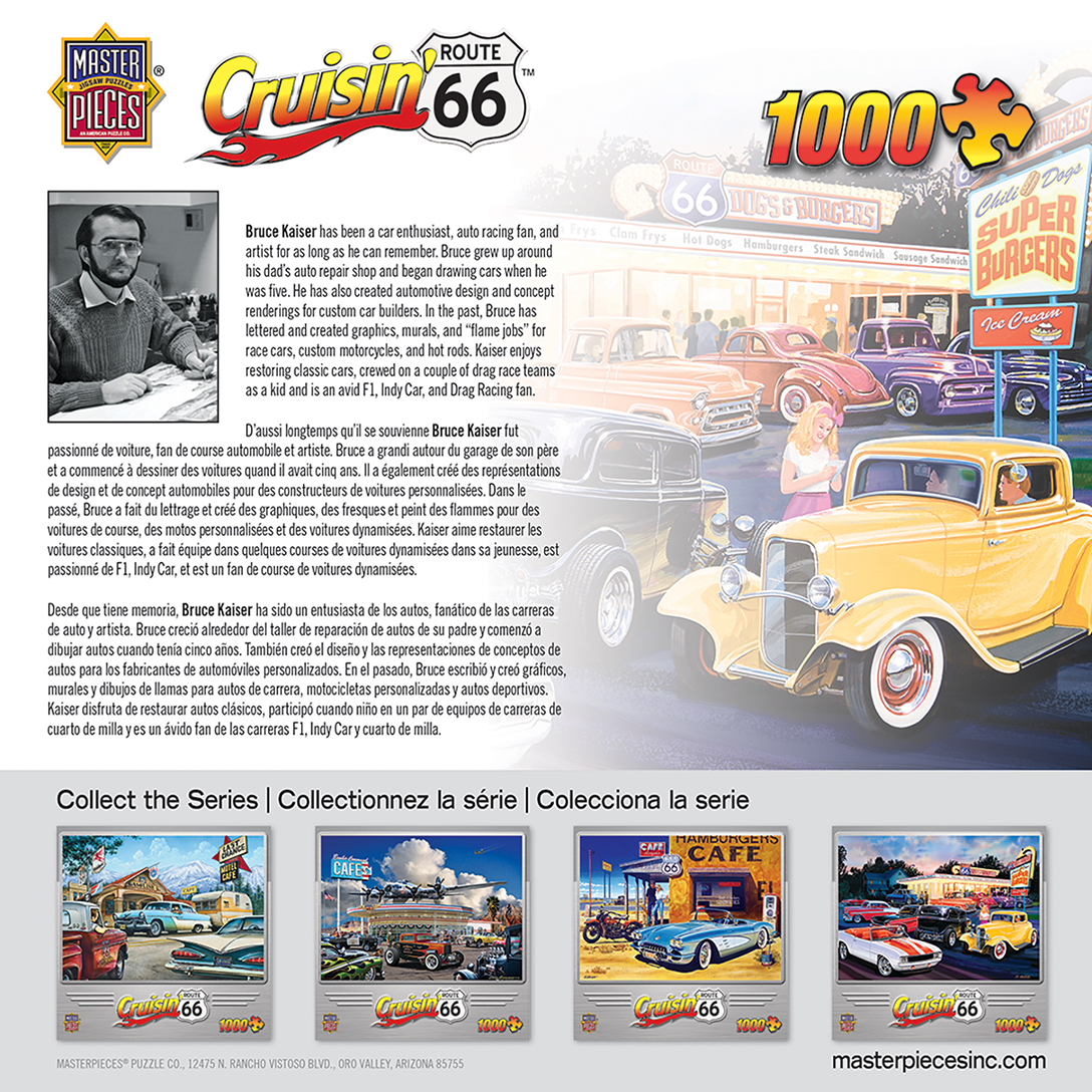 Cruisin Route 66 Dogs Amp Burgers 1000 Piece Jigsaw Puzzle