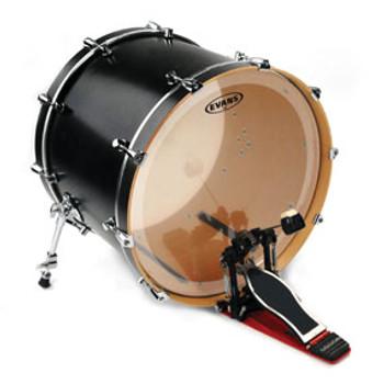 Evans EQ3 Clear Bass Drum Head Batter