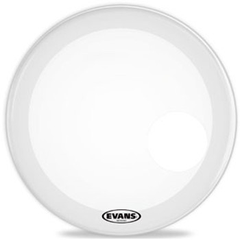 Evans EQ3 Coated White Bass Drum Head Resonant