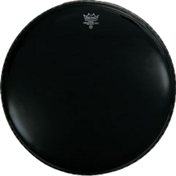 "Remo Powerstroke 3 Ebony Bass Drum Head (with 5"" Black Dynamo) 22"""