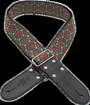 DSL Jacquard JAC20-PATCH-RED Red/Black Weave Guitar Strap