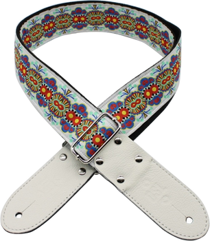 DSL Jacquard JAC20-MEX-RED Red/White Weave Guitar Strap