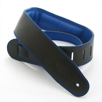 "DSL 2.5"" Padded Garment Black/Blue Guitar Strap"