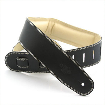 "DSL 2.5"" Padded Garment Black/Beige Guitar Strap"
