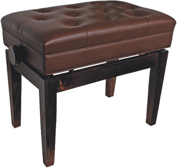 AMS KTW15W Deluxe Adjustable Piano Bench Polished Walnut