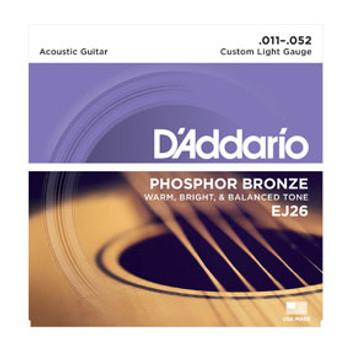 D'addario EJ26 Phosphor Bronze 11-52
