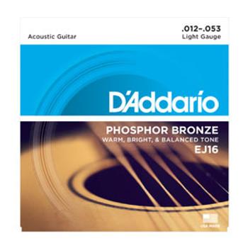 D'addario EJ16 Phosphor Bronze 12-53