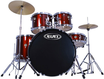 Mapex PDG5044T Prodigy Drum Kit with Cymbals & Throne Red