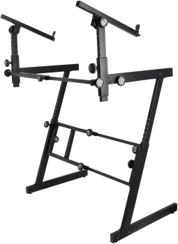 On Stage KS7365EJ Heavy-Duty Folding Z Stand with 2nd Tier