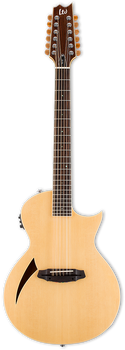 ESP LTD TL-12 12-String Thinline Acoustic/Electric Natural