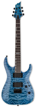 ESP LTD H-401QM Quilted Maple Faded Sky Blue