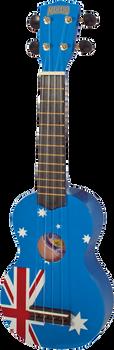 Mahalo Art Series U60AU Aussie Flag Soprano Ukulele