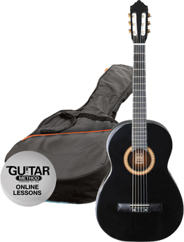 Ashton CG44BK Full Size Classical Guitar Starter Pack Black