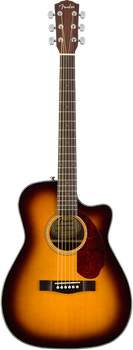 Fender CC-140SCE Acoustic/Electric Cutaway Sunburst with Case
